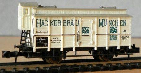 Vintage N Gauge TRIX Hackerbrau Bier Wagon/West Germany