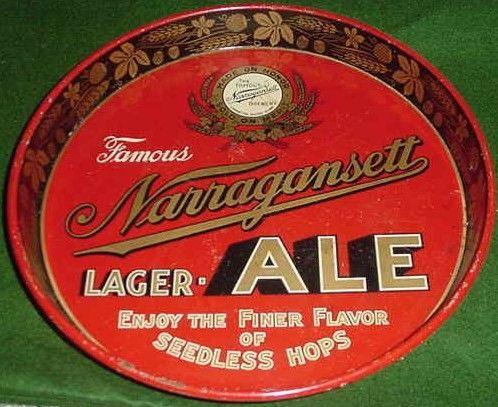 Vintage Narragansett Lager Ale Beer Tray