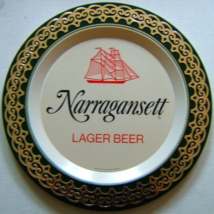 Vintage Narragansett Lager Beer Tray Plastic