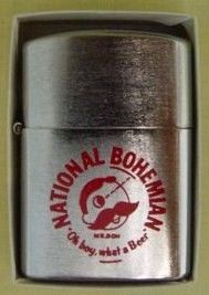 Vintage National Bohemian Beer Mr Boh Ad Lighter