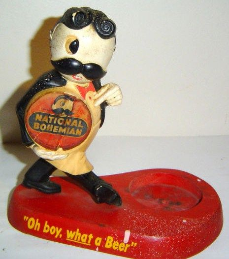 Vintage National Bohemian Beer Natty Bo Statue Store Display