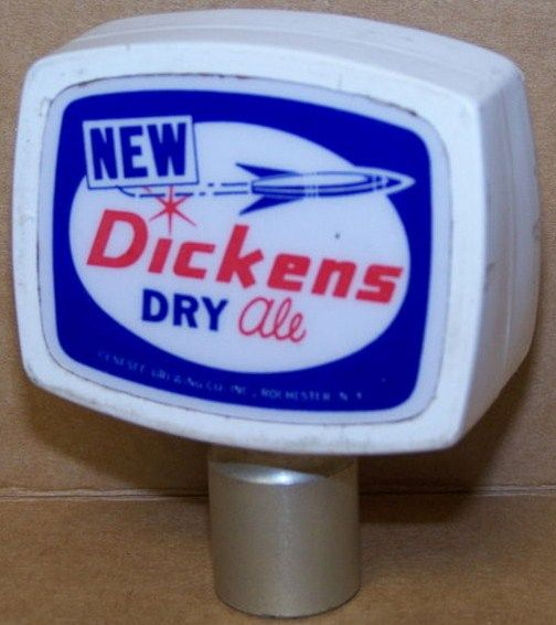 Vintage New Dickens Dry Ale Beer Tap Handle