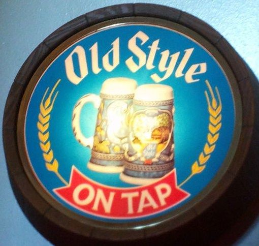 Vintage Old Style On Tap Beer Eletric Bar Sign Barrel