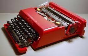 Olivetti Vintage Olivetti Red Valentine Typewriter