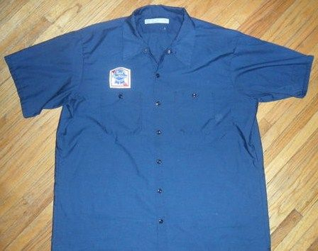 Vintage Pabst Blue Ribbon Workshirt Beer Delivery Guy Patch