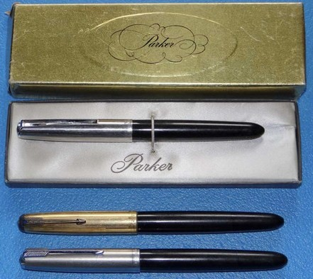 Vintage Parker Fountain Pen Lot/3 Pieces