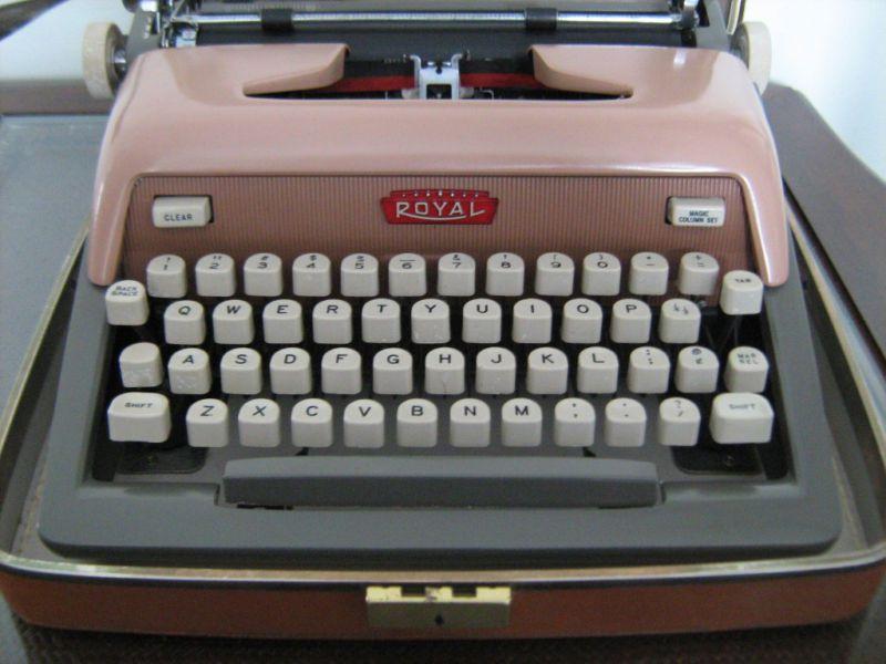 Vintage Pink Royal Futura 800 Typewriter