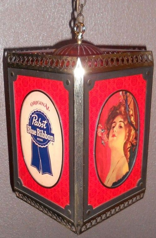 Vintage Pabst Blue Ribbon Beer Rotating Light