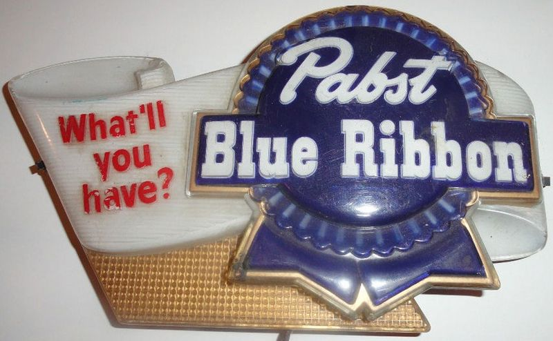 Vintage Pabst Blue Ribon Lighted Sign What'll You Have