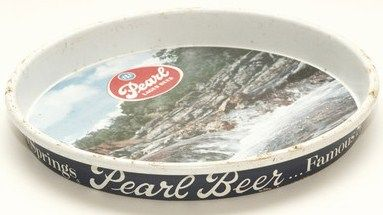 Vintage Pearl Beer Serving Tray