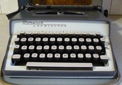 Vintage Remington Monarch Portable Typewriter