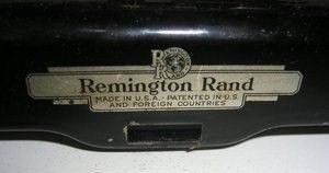 Vintage Remington Rand Back Logo