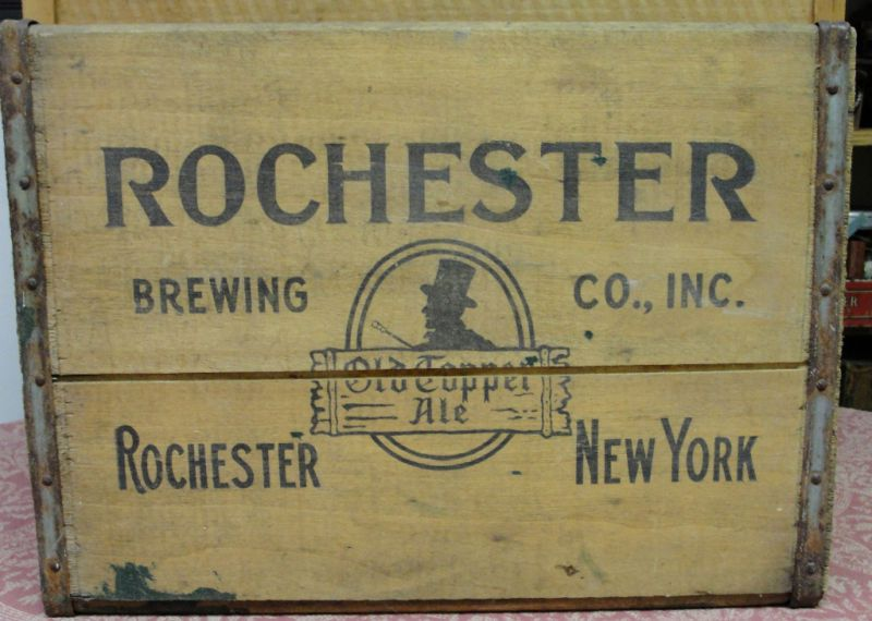 Vintage Rochester Brewing Old Topper Ale Beer Crate