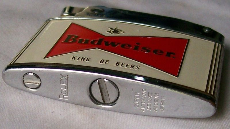 Vintage Rolex Advertising Lighter Budweiser King of Beers