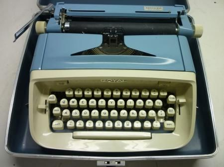 Royal Aristocrat Blue Portable Typewriter
