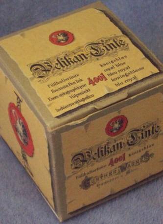 Vintage Royal Blue Pelikan Tinte Ink Original Box