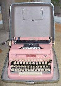 Vintage Royal De Luxe Pink Typewriter