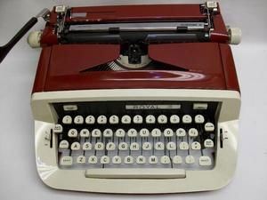 Royal McBee Red Portable Custom III Typewriter
