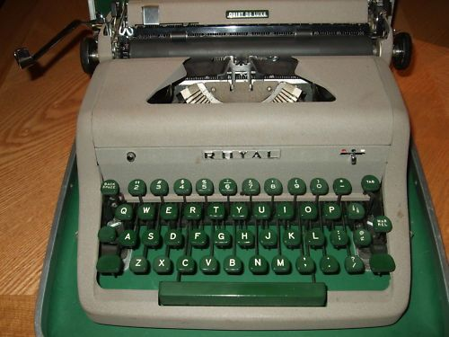 Vintage Royal Quiet DeLuxe Portable Typewriter