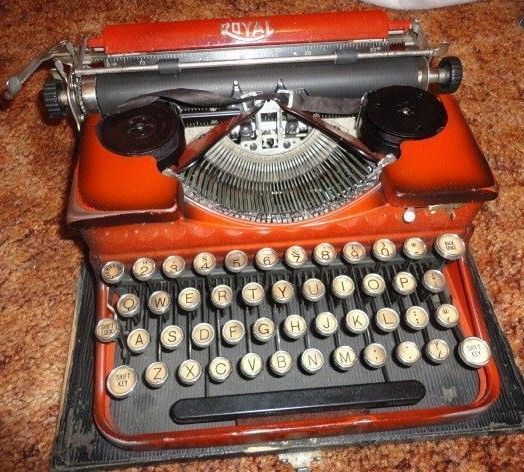 Vintage Royal Typewriter Red Burgundy