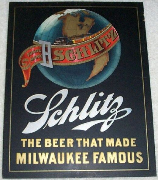 Vintage Schlitz Beer Advertising Paper Card