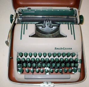Smith Corona Silent Super Typewriter 1950's