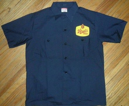 Vintage Strohs Beer Workshirt-Delivery Guy Patch Uniform
