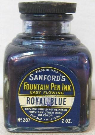 Vintage Sanford 2 ounce Ink Bottle
