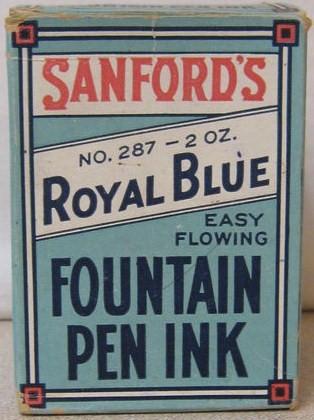 Vintage Sanford 2 Ounce Ink Original Box
