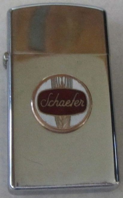 Schaefer Beer Logo on Zippo Lighter 1975