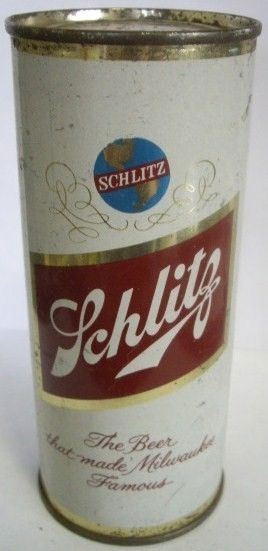 Vintage Schlitz Beer Flat Top Can