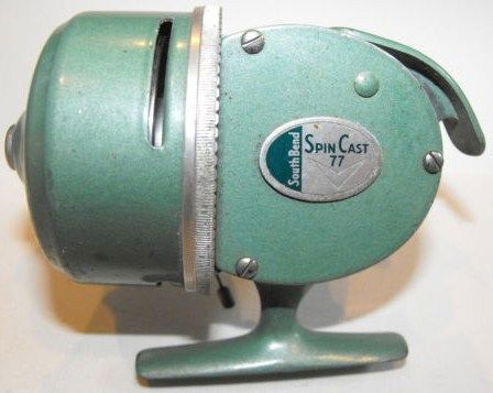 Vintage South Bend Spin Cast 77 Casting Fishing Reel USA