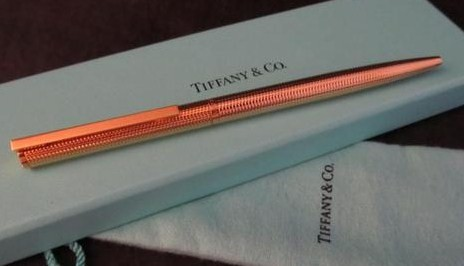 Vintage Tiffany & Co. T-Clip Gold Plated Ball Point Pen/W Germany