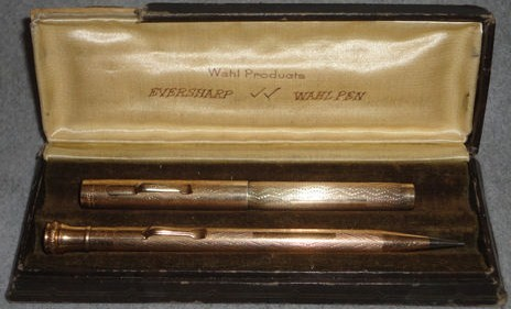 Vintage Wahl Eversharp Gold Filled Metal Fountain Pen/Pencil Set