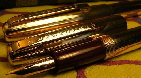 Vintage Wahl Pen Set 14K M-Lined Gold Filled Boxed Cloth