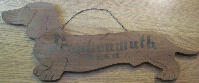 Vintage Wood Frankenmuth Beer Sign