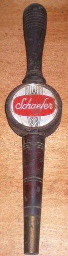 Vintage Wooden Billie Club Schaefer Beer Tap Handle