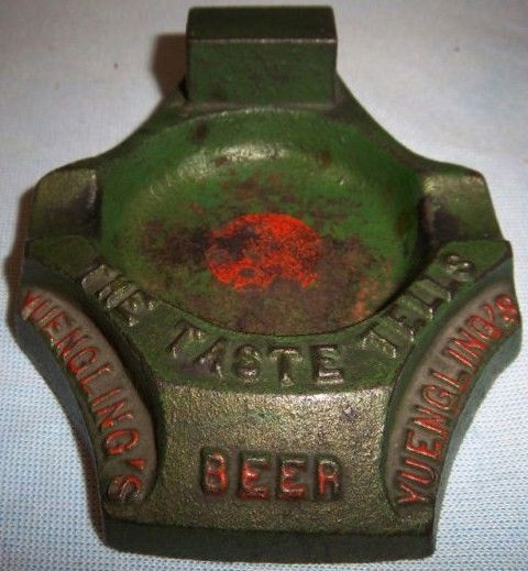 Antique Cast Iron Yeungling Beer Ashtray