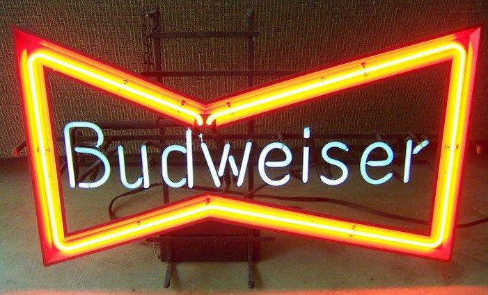 Vintage Budweiser Neon Sign Bowtie