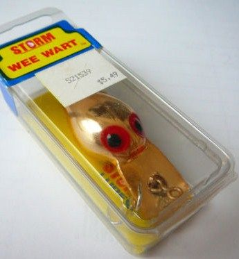 Vintage pre Rapala Storm Wee Wart Lure xv131 Copper