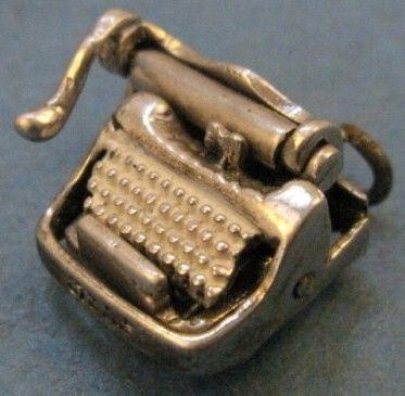 Vintage Silver Secretary Typewriter Charm