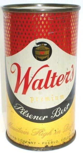 Walter's Premium Pilsener Beer/Flattop can