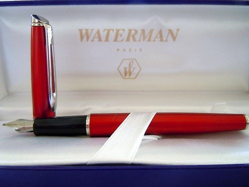 Waterman Hemisphere Fountain Pen in Anodised Satin Red