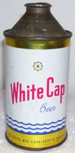 White Cap Beer Can Cone Top Two Rivers, WI