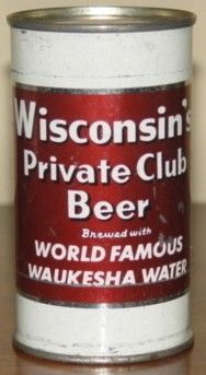 Wisconsin Private Club Beer Flat Top Can