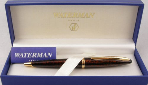 Waterman Carene Amber Shimmer Ball Point Pen New