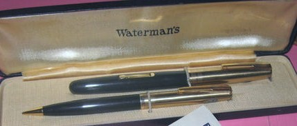 Waterman Ideal Flex Taperite Set 14K Gold Nib Fountain Pen