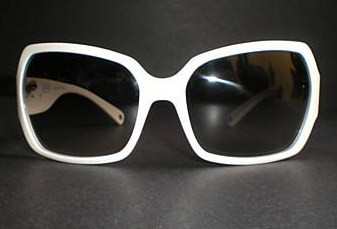 White Alicia Sunglasses with Swarovski Crystal