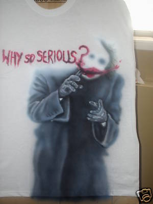 Why So Serious Joker T Shirt White