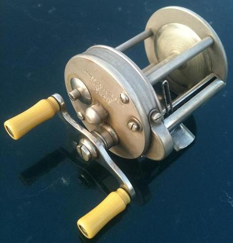 Working Old Heddon No. 3-35 casting Reel